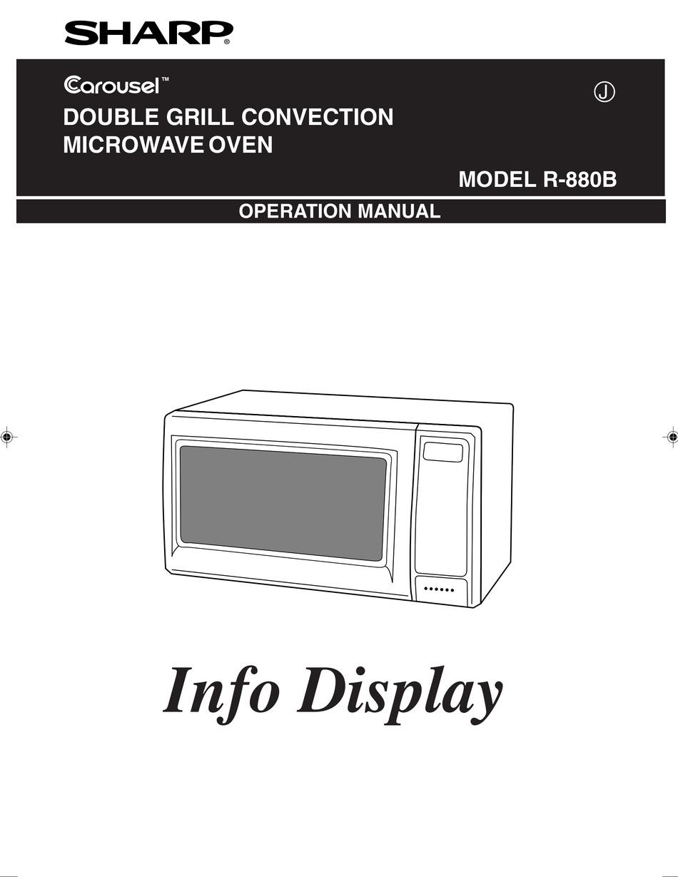sharp carousel r 880b operation manual