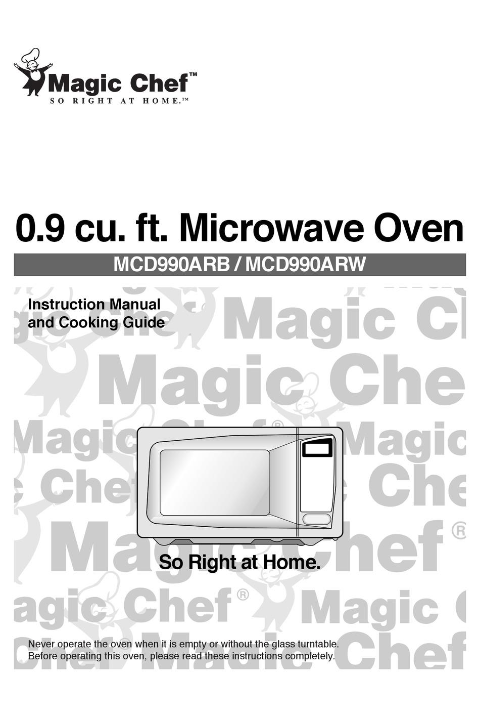 magic chef mcd990arb instruction manual