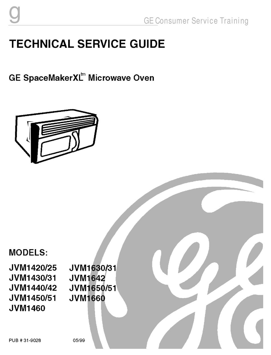 ge spacemakerxl jmv1420 technical