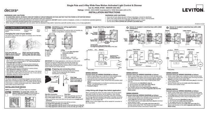 leviton ipsd6 installation instructions pdf download