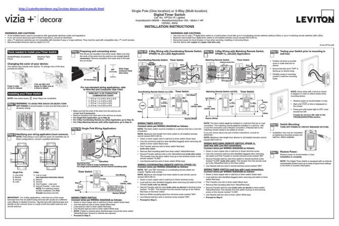 leviton vpt24 installation instructions pdf download