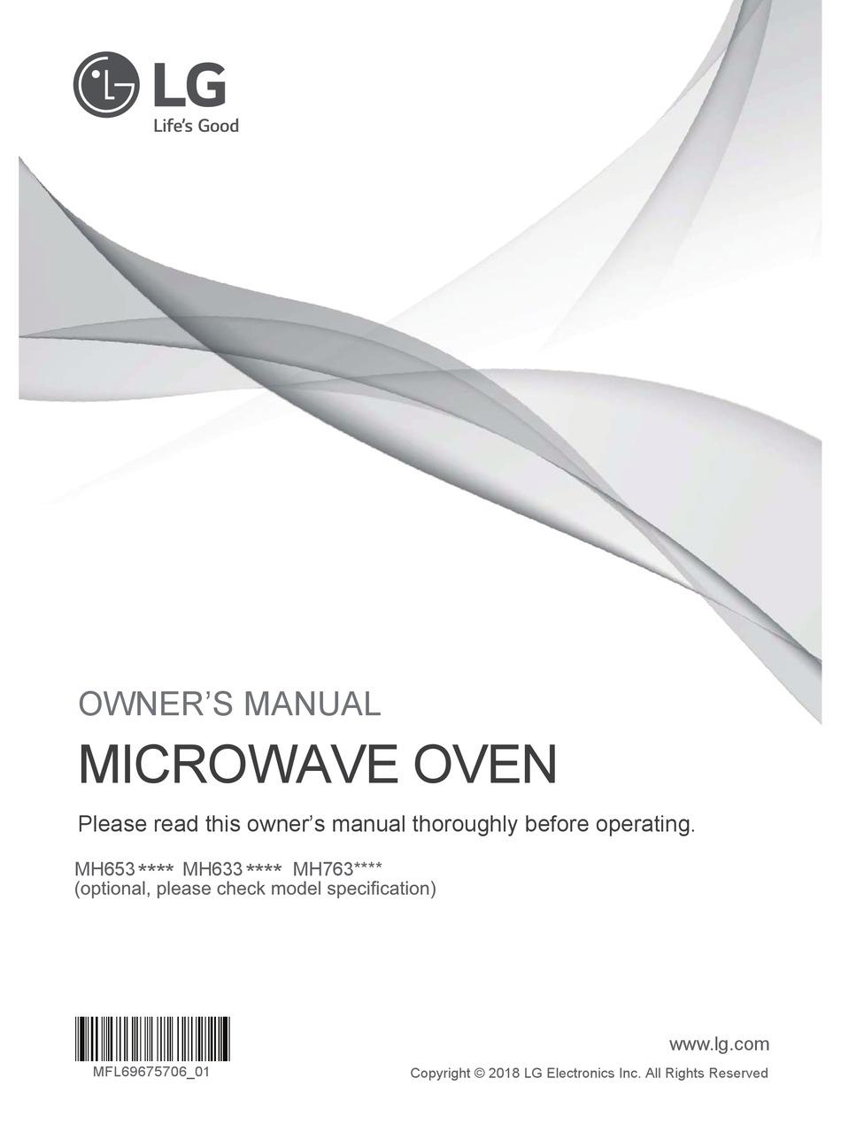 lg mh653 series owner s manual pdf