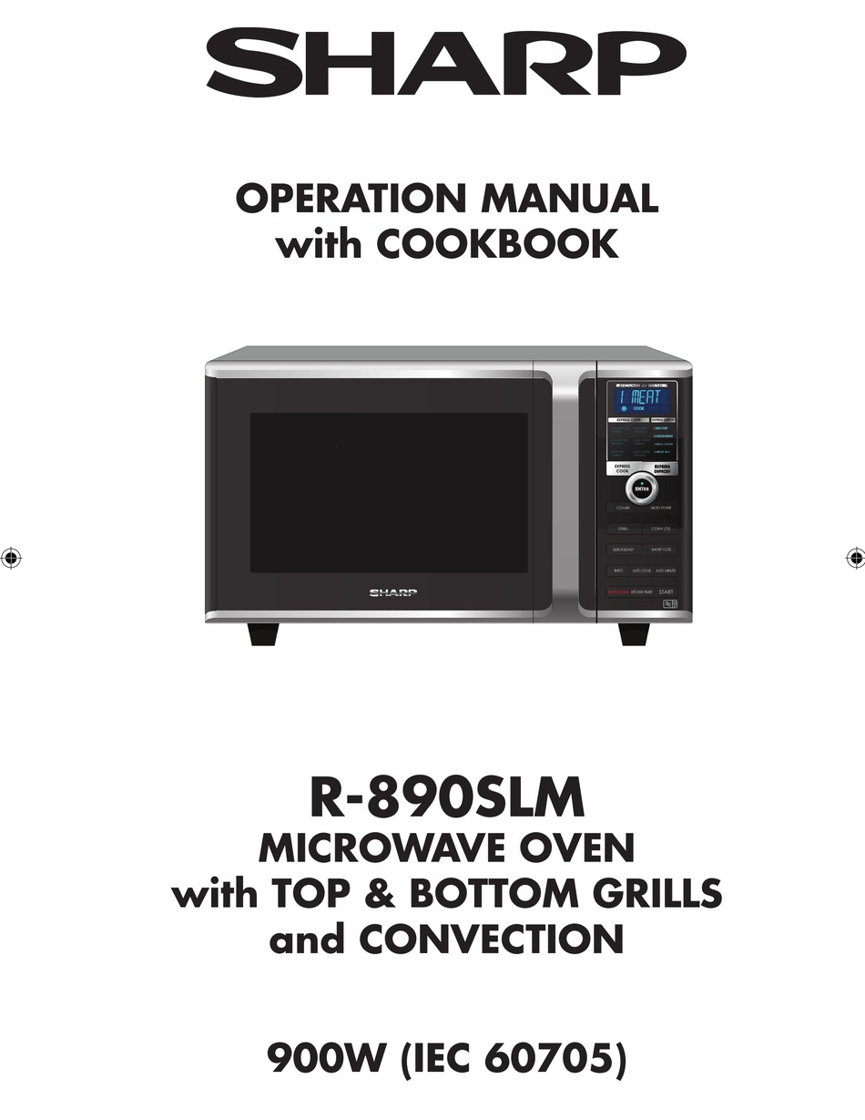 sharp r 890slm operation manual with