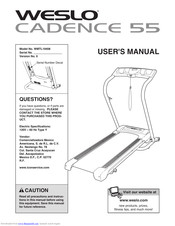 weslo cadence 55 manuals manualslib