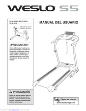 weslo cadence s5 treadmill manuals