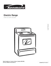 Kenmore Electric Range Model C970 Parts Canada