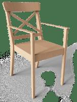 CAD  und BIM Objekte   Ingolf Stuhl mit Armlehne   IKEA ...