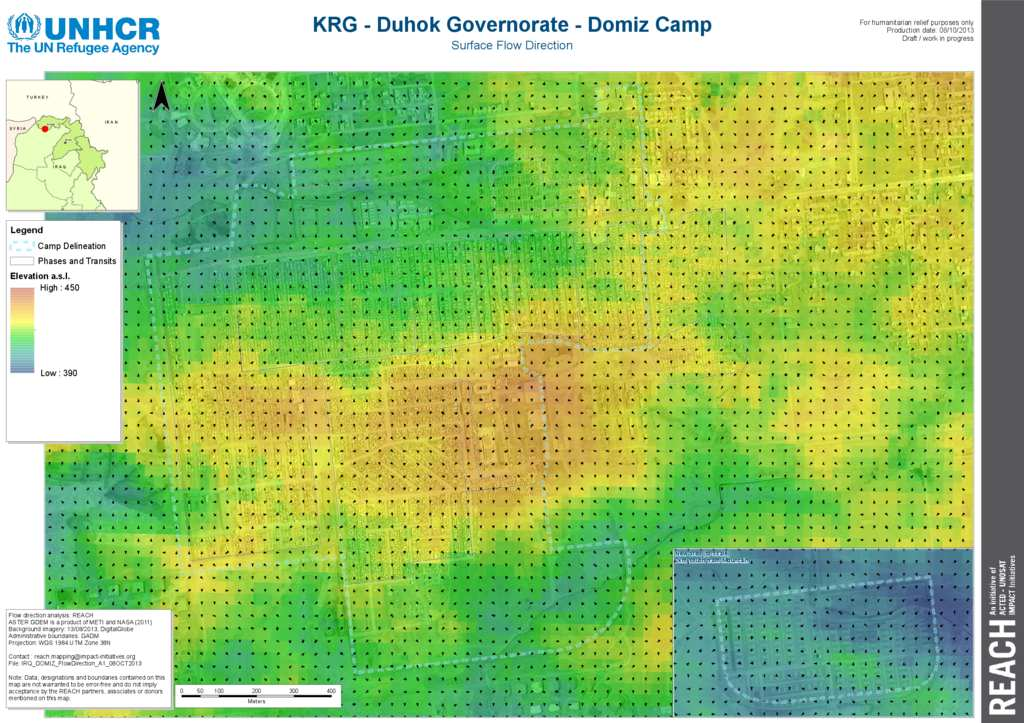 Document   Iraq   Dohuk Governorate   Domiz Camp   Flow Direction     Iraq   Dohuk Governorate   Domiz Camp   Flow Direction Map   08 Oct 2013