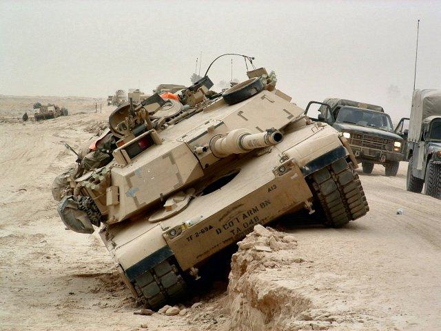 Американский М1 Абрамс в Ираке