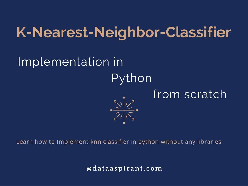 K-nearest neighbor algorithm implementation in Python from scratch