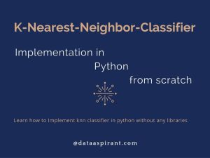 K-nearest-neighbor implementation in python from scratch