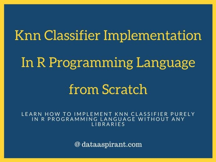 knn in implementation r from scratch