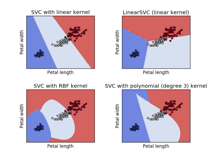 Svm Classifier with Iris Petal features