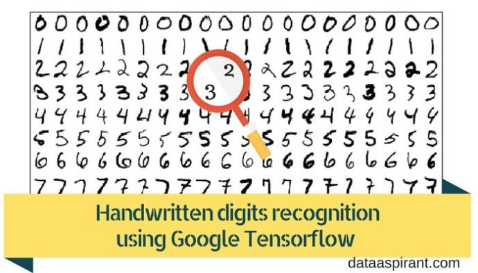 Handwritten digits recognition using google tensorflow with