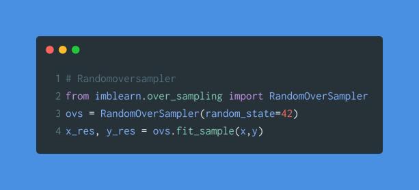 random over sampler