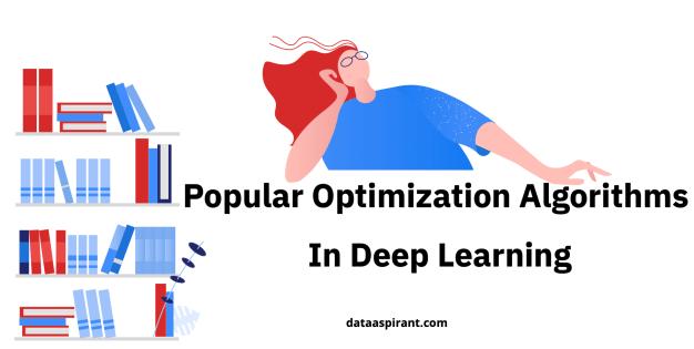 Popular optimization algorithms in deep learning