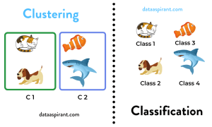 Clustering Vs Classification Example