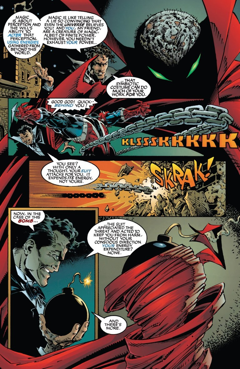 In 'Spawn' (1994) #19, Harry Houdini teaches Spawn about necroplasm magic.