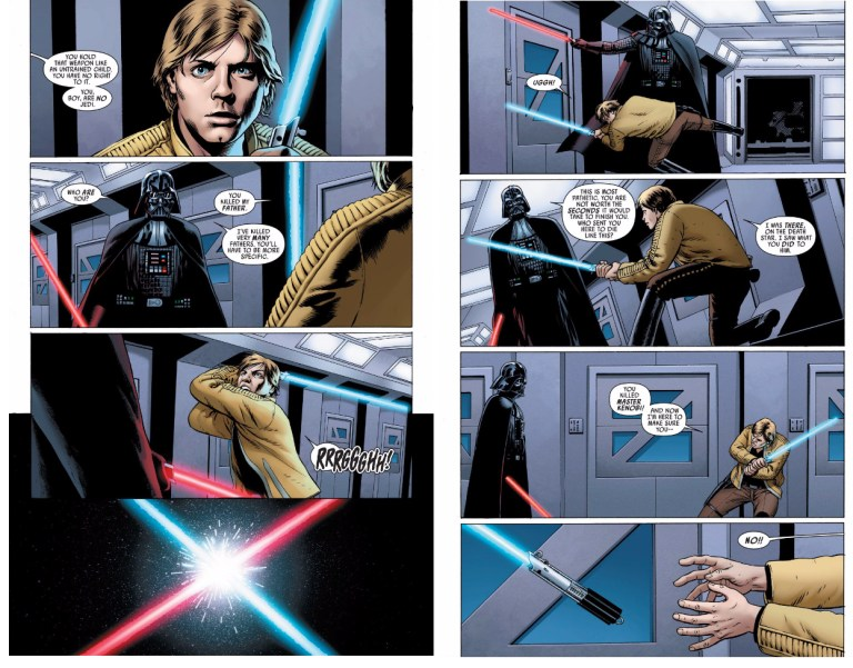 In 'Star Wars' (2015) #2, Luke Skywalker goes toe-to-toe with Darth Vader.