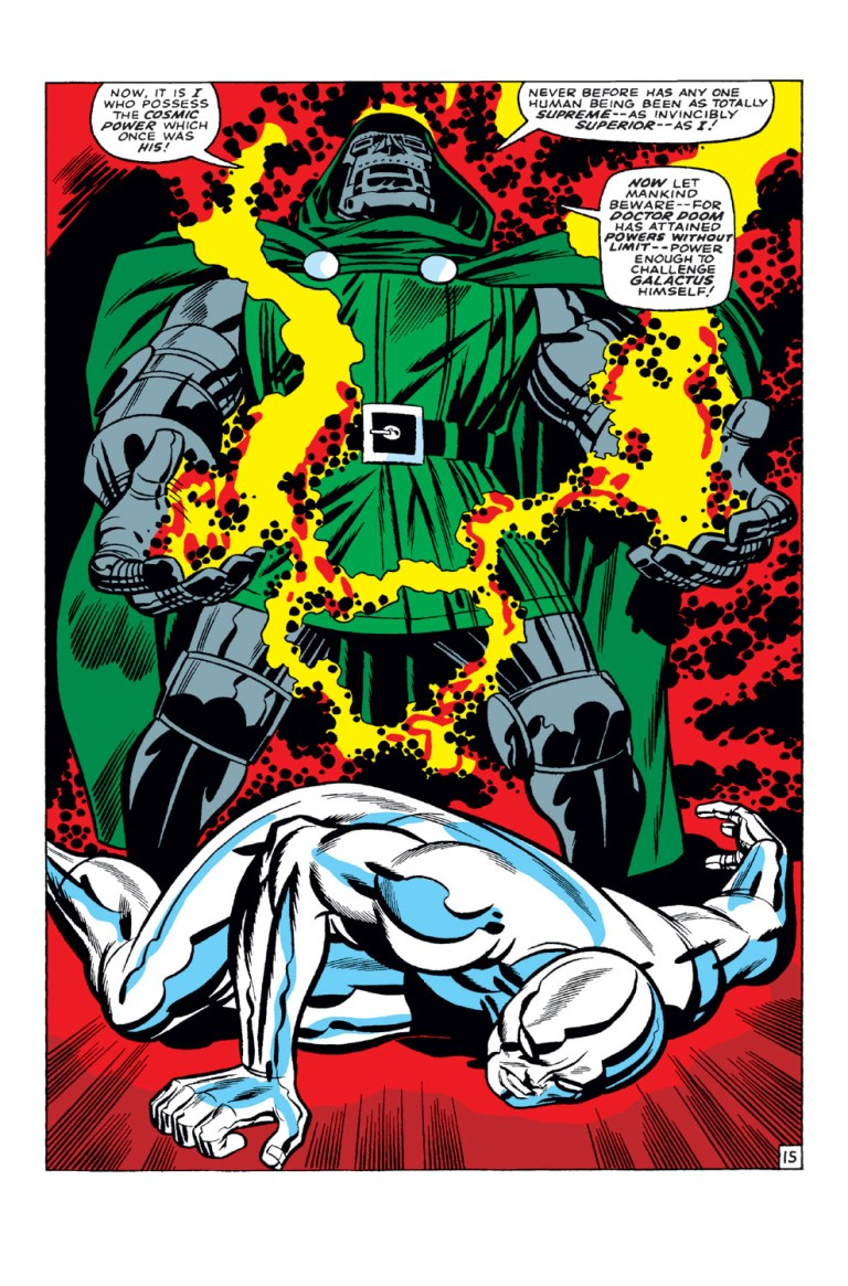 In 'Fantastic Four' (1968) #57, Doctor Doom steals the Power Cosmic in order to challenge Galactus.