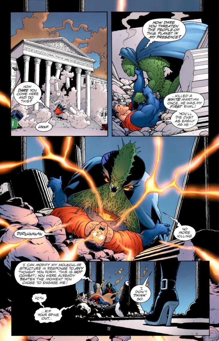 In 'JLA: Earth-2 2000', Martian Manhunter mind blasts Ultraman to submission.