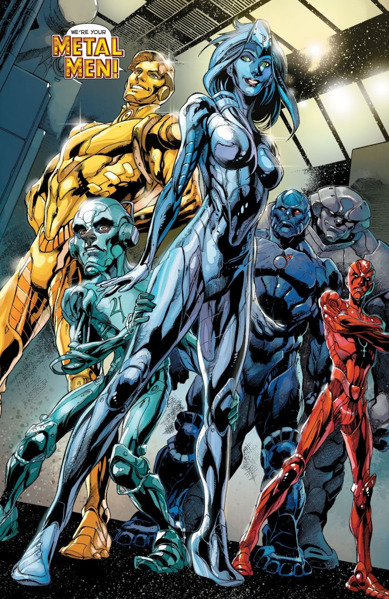 In 'Justice League' (2014) #28, the Metal Men are born.