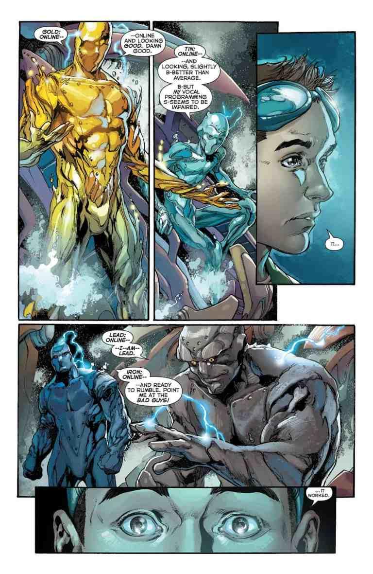 In 'Justice League' (2018) #24, Dr. William Magnus creates the Metal Men.