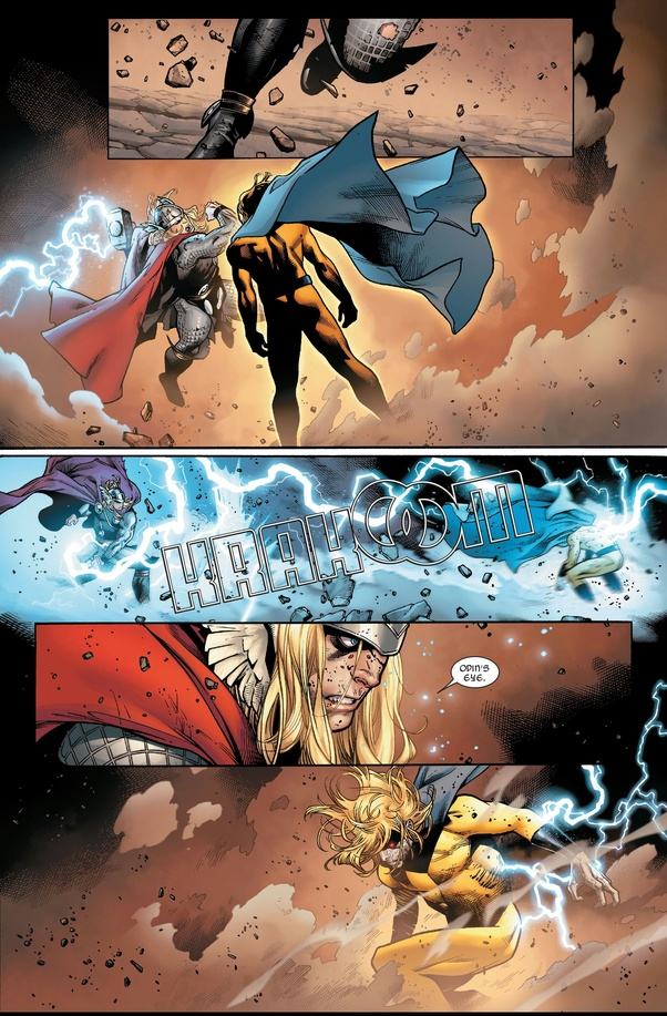 By fan-vote, Thor vs Void Sentry is published in Battles Of The Week.