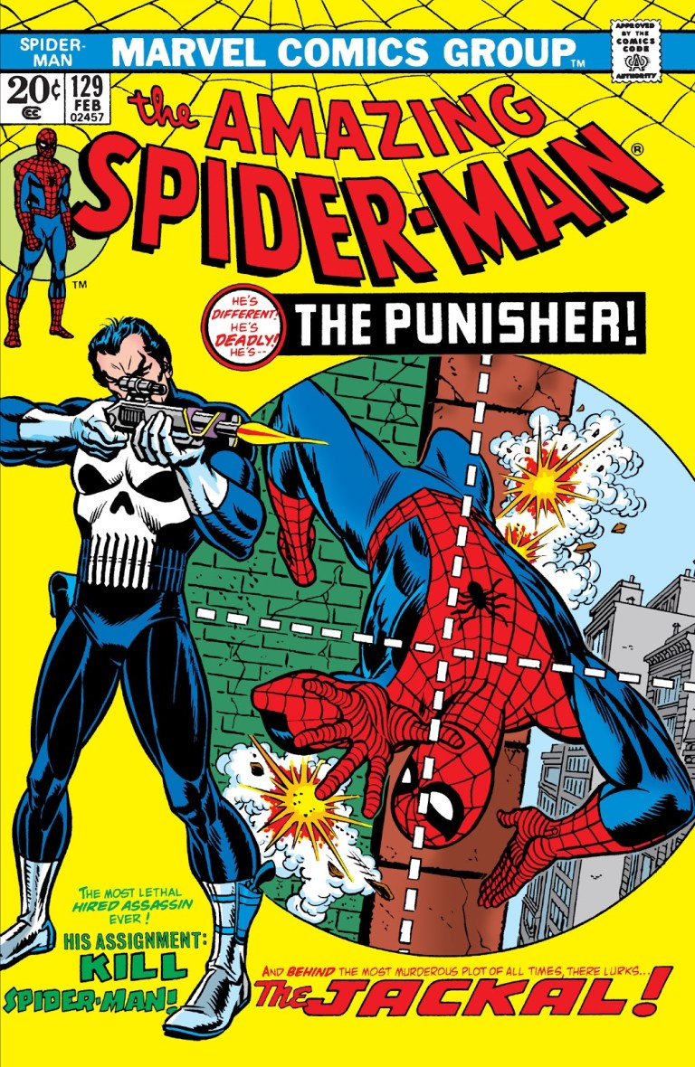 """'Amazing Spider-Man' (1974) #129, titled """"The Punisher Strikes Twice!"""", marks the first appearance of Punisher in Marvel continuity."""