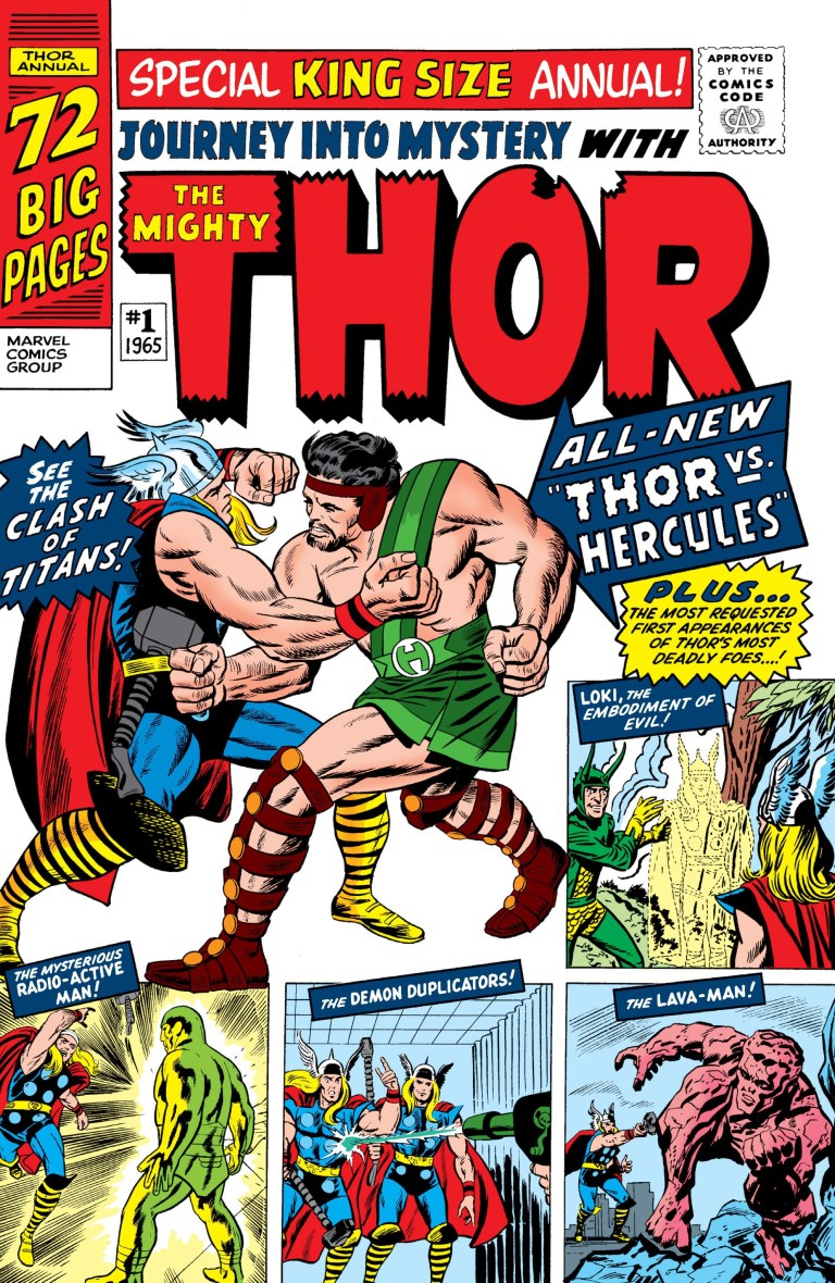 'Journey Into Mystery Annual' (1965) #1, marks the first appearance of Hercules in Marvel continuity.