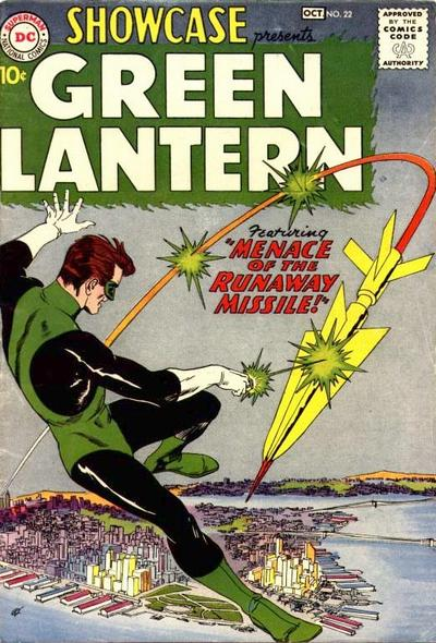 Showcase' (1959) #22, marks the first appearance of Green Lantern (Hal Jordan) in DC continuity.