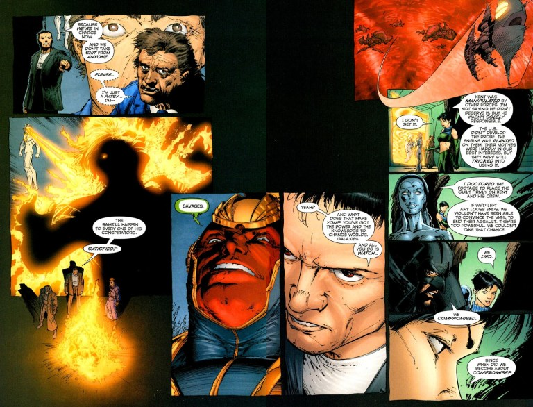In 'Coup D'Etat: The Authority' (2004) #1, Apollo murders President Kent with his heat vision.