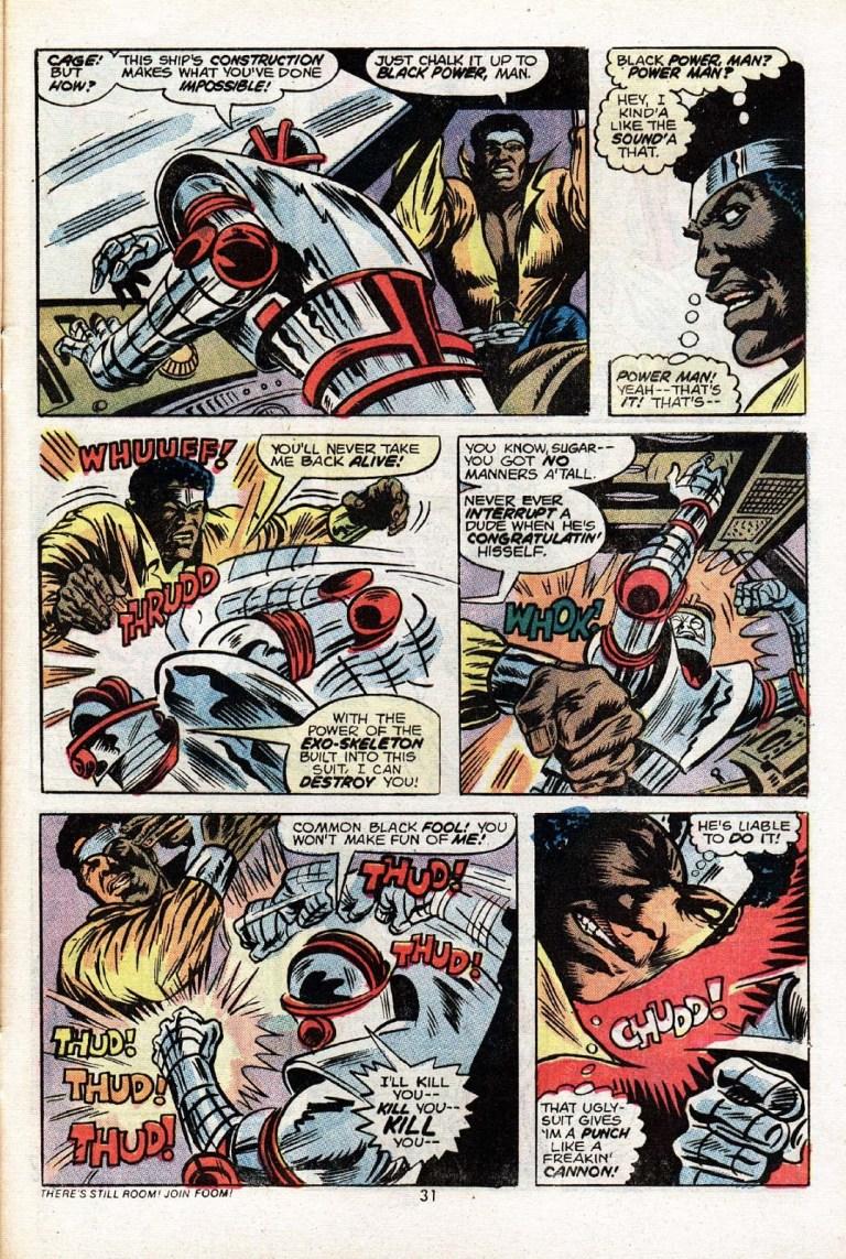 In 'Power Man' (1974) #17, in a celebration of Black Power, Power Man is born!