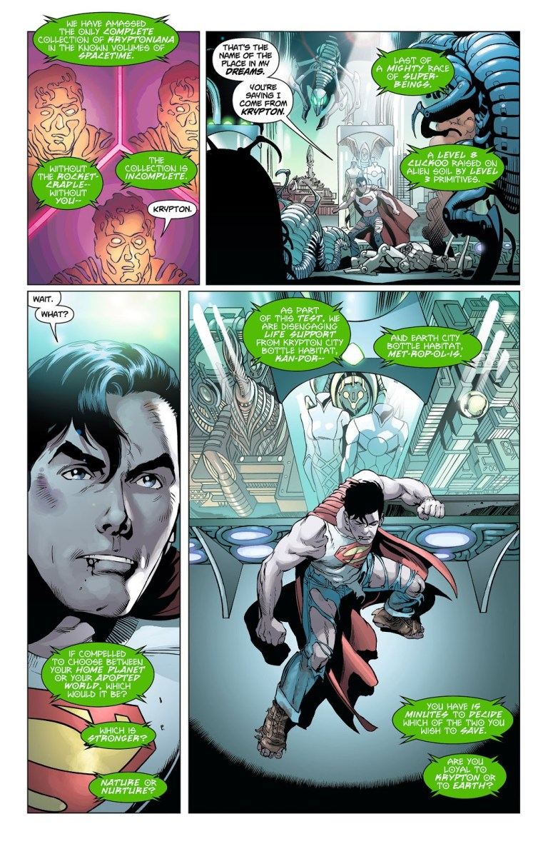 In 'Action Comics' (2012) #7, the Collector identifies Superman as an 8th-level intellect.