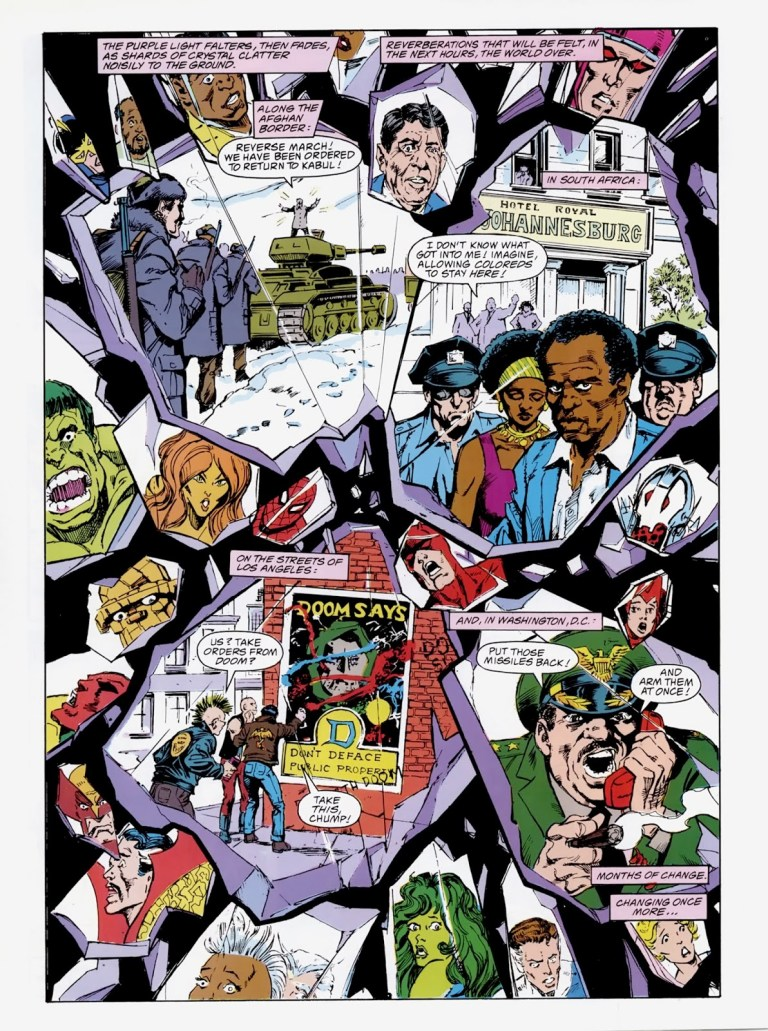 """In """"Emperor Doom"""" (1987), the Earth is freed from the influence of the psycho-prism."""