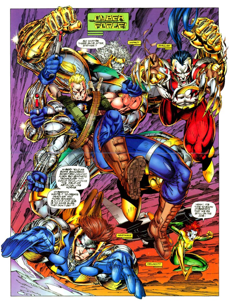 In 'W.I.L.D.C.A.T.s.' (1994) #7, the W.I.L.D.C.A.T.s. meet Cyberforce for the first time.