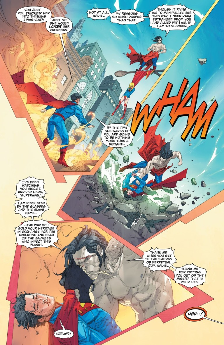 In 'Superman' (2013) #12, Superman battles H'el.