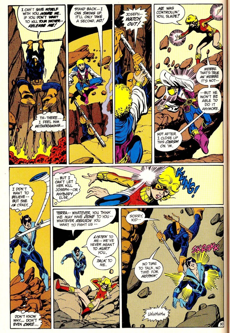 In 'The New Teen Titans: The Judas Contract', the New Teen Titans battle the menaces of Deathstroke and Terra.