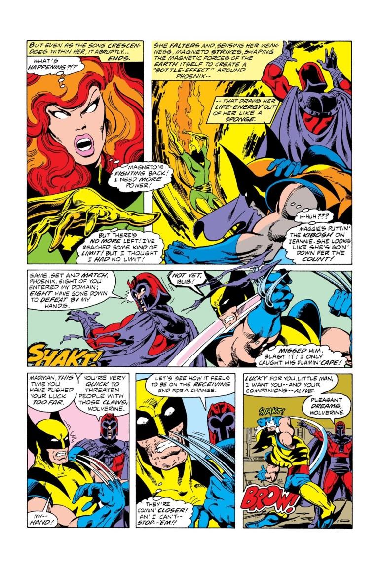 In 'X-Men' (1978) #112, Magneto defeats Phoenix and Wolverine.