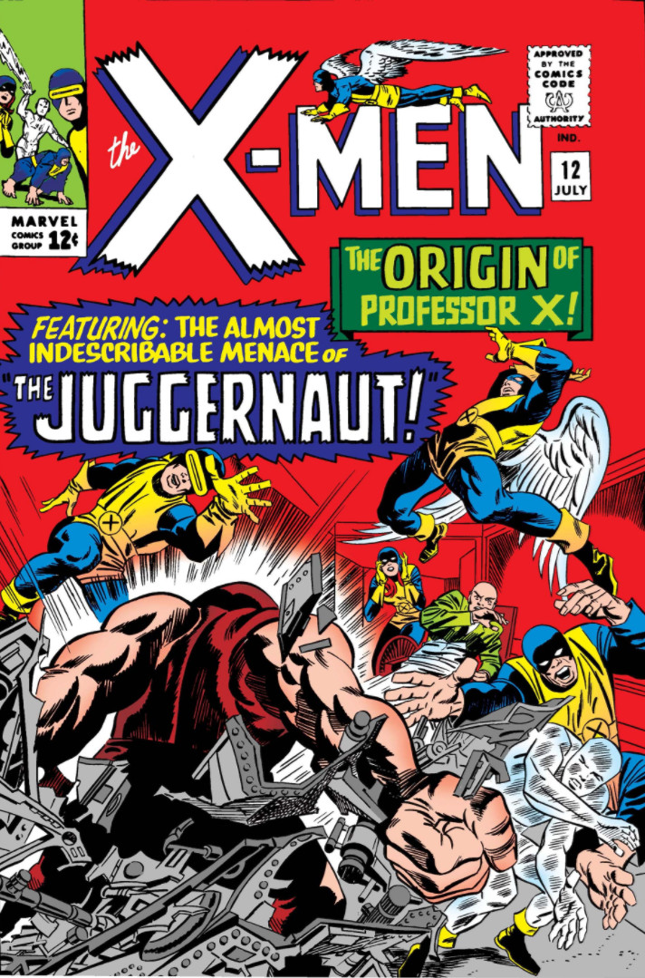 """'X-Men (1965) #12, titled """"The Origin Of Professor X!"""", marks the first appearance of Juggernaut in Marvel continuity."""