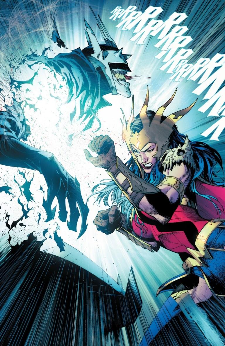 In 'Dark Nights: Death Metal' (2020) #1, Wonder Woman kills the Batman Who Laughs.