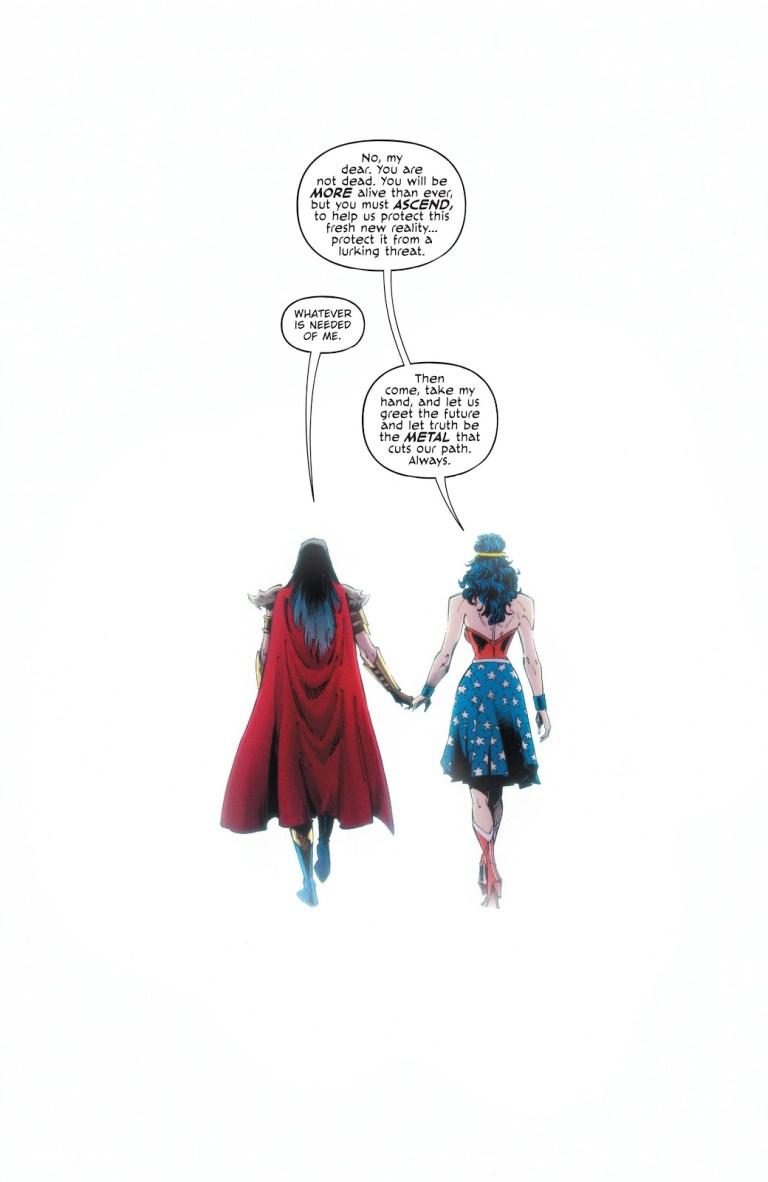 In 'Dark Nights: Death Metal' (2021) #7, the Hand restores the DC multiverse.