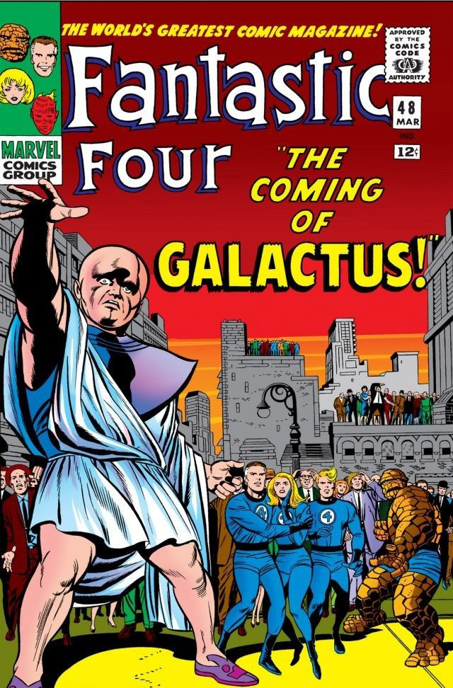 In 'Fantastic Four' (1966) #48, Silver Surfer comes to Earth to announce the coming of Galactus.