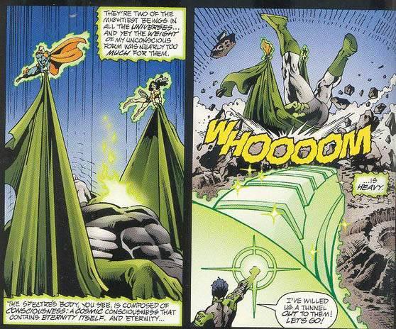 In 'JLA/Spectre: Soul War' (2003) #1, Superman and Wonder Woman lift Spectre.