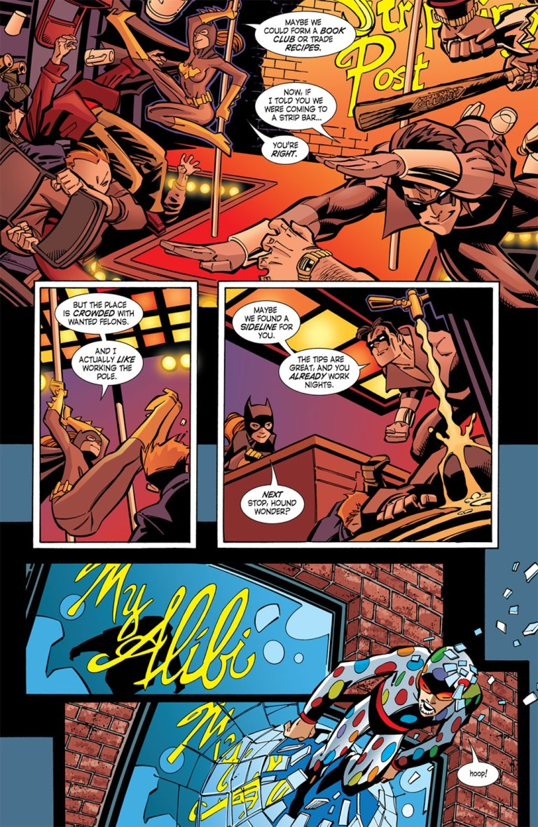 In 'Nightwing' (2005) #104, Nightwing and Batgirl promote his solo career by taking down wanted felons.