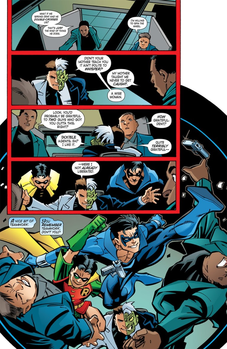 In 'Nightwing' (2005) #106, Nightwing and the new Robin team-up to take down Killer Croc and save Alfred.