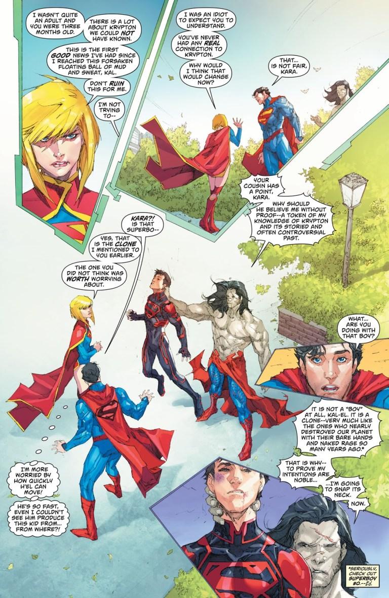 In 'Superman' (2013) #14, H'el teleports Superboy.