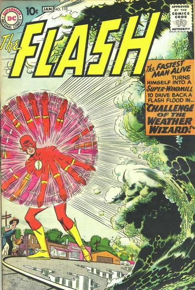"""Originally, 'The Flash' (1959) #110, titled """"Meet Kid Flash!"""", marks the first appearance of Kid Flash in DC continuity. In fact, the issue is the origin story of Kid Flash and recounts how he got his powers. On the day Flash (Barry Allen) visited his nephew, Wally West was struck by lightning. As a result, Flash made him a costume and he became Kid Flash, Flash's new sidekick."""