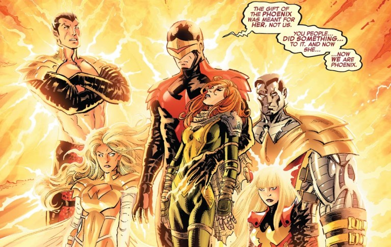 In 'Avengers vs X-Men' (2012) #5, the Phoenix Five rise for the first time.