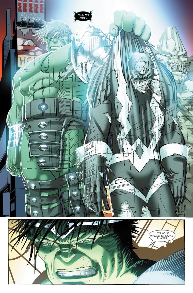 In 'World War Hulk' (2007) #1, World War Hulk returns to Earth.